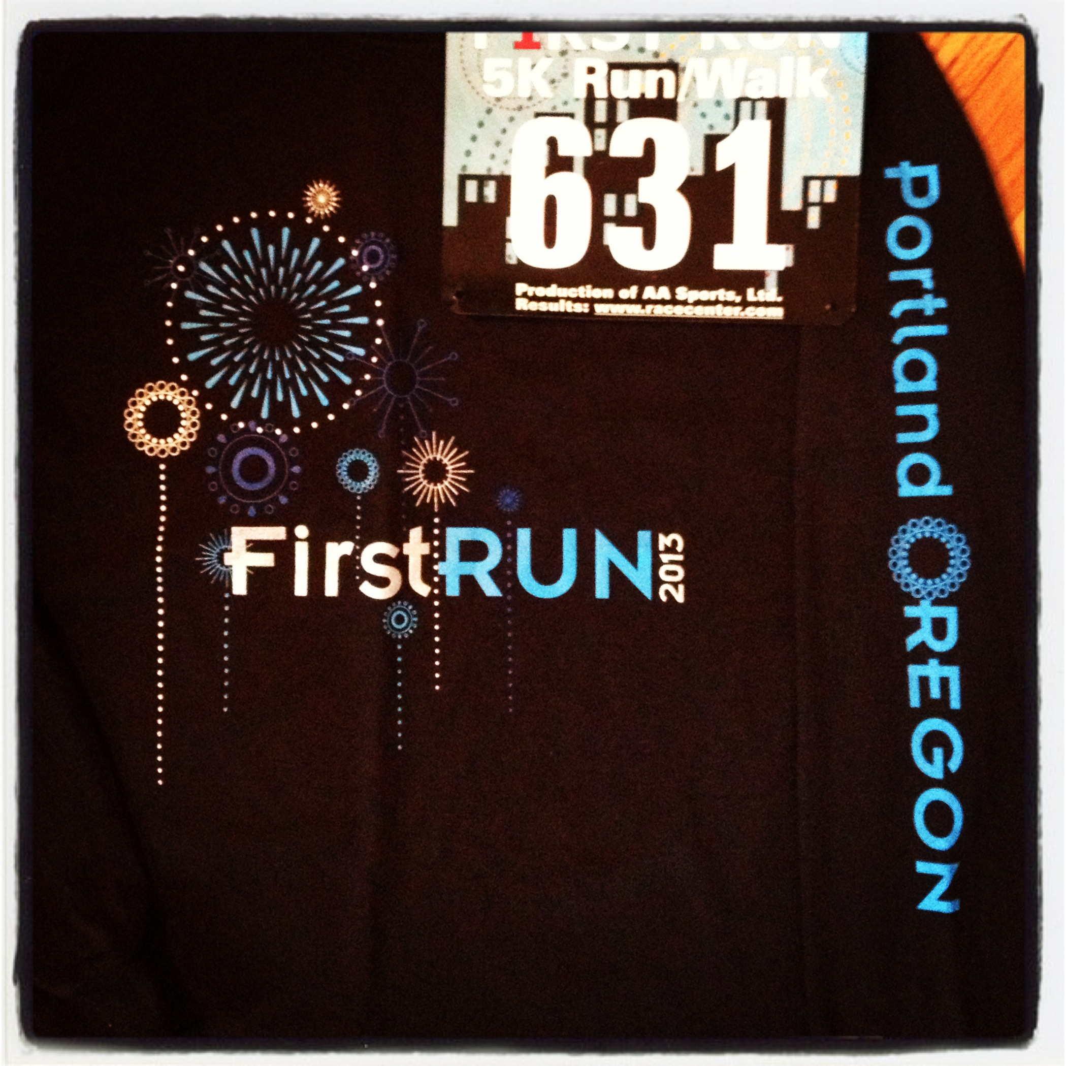 Bib and shirt all ready to go!
