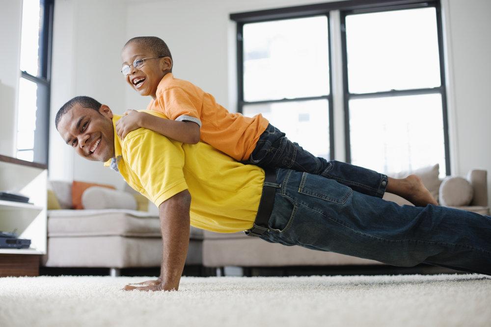 push-ups with kids