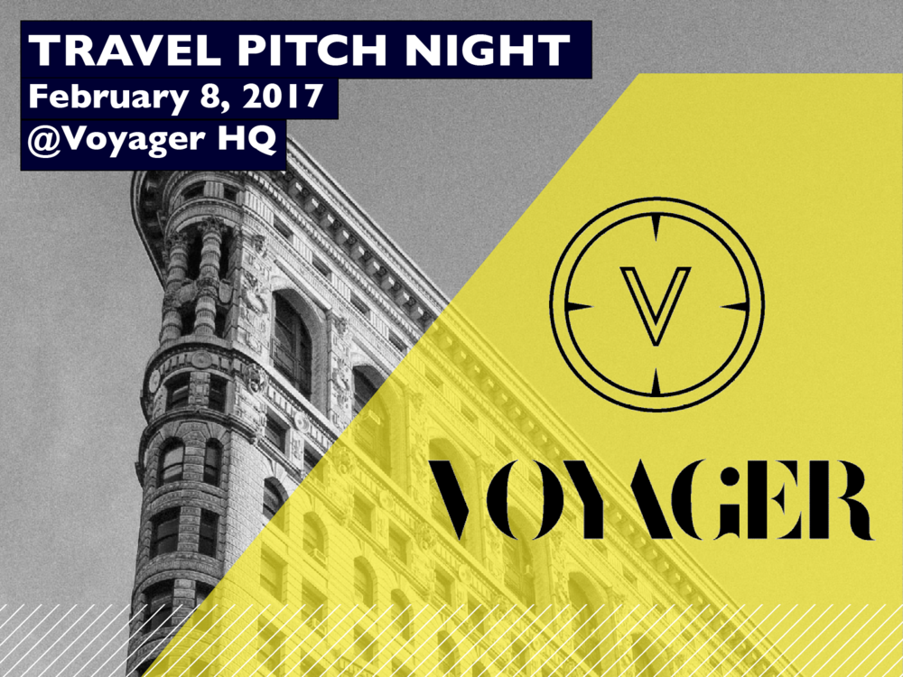Travel Pitch Night February 8th, 2017