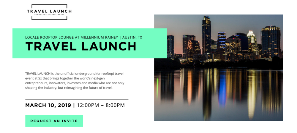 Join the travel industry during SXSW at the    Travel Launch event   .