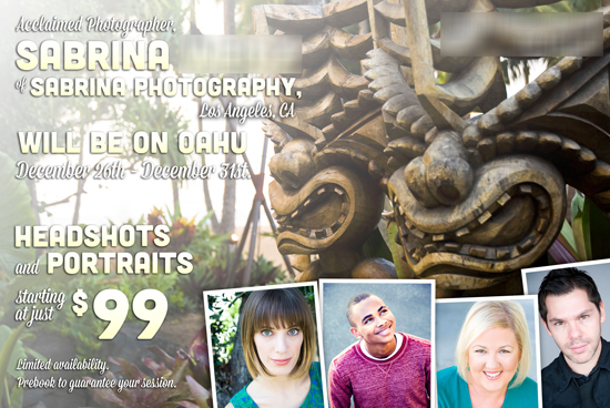 Sabrina Photography, Flyer