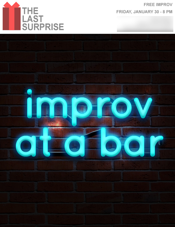 """Improv At At Bar,"" Flyer"