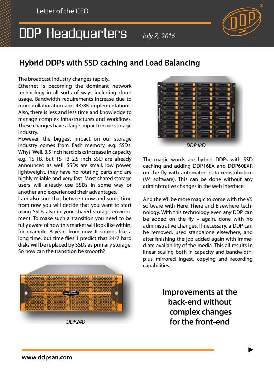 SSD caching & load balancing