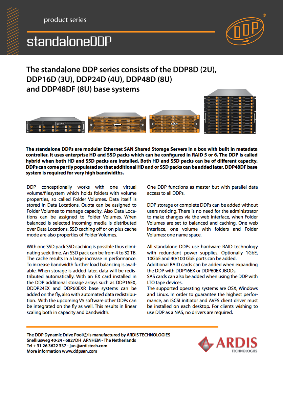 Standalone DDP series