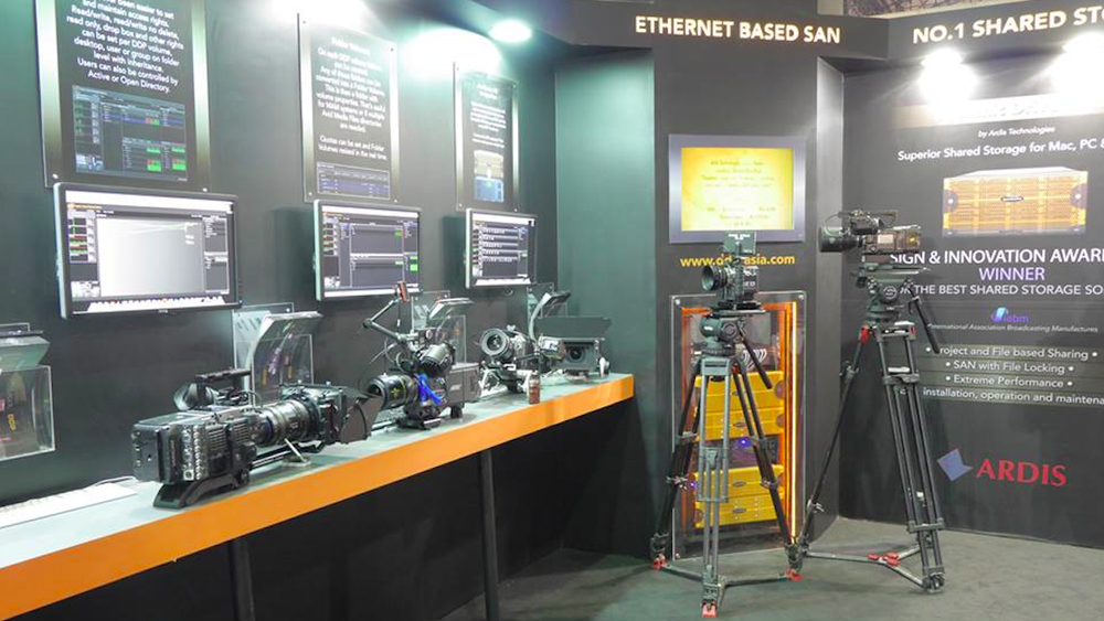 The DDP booth at Broadcast India 2014 looked impressive with cameras from Sony, Blackmagic and Panasonic RED and Arri