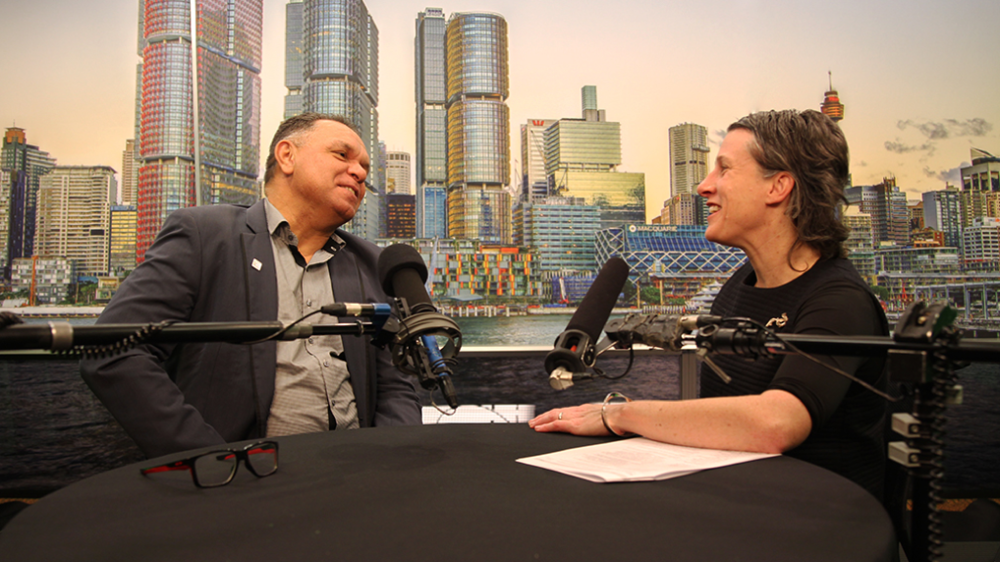 Uphold & Recognise chair Sean Gordon in conversation with Westpac's Siobhan Toohill