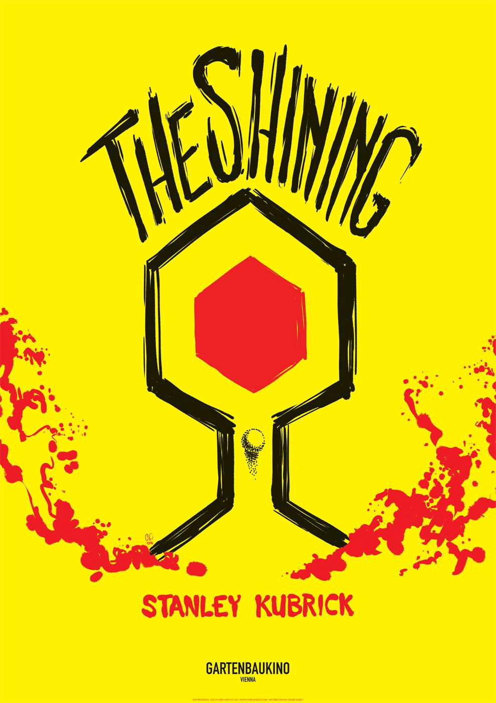 The Shining - Stanley Kubrick retrospective poster for Gartenbaukino