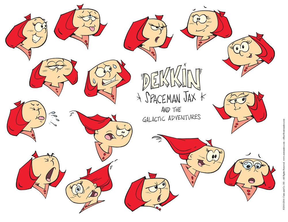 Spaceman Jax - Dekkin facial expressions - model sheet