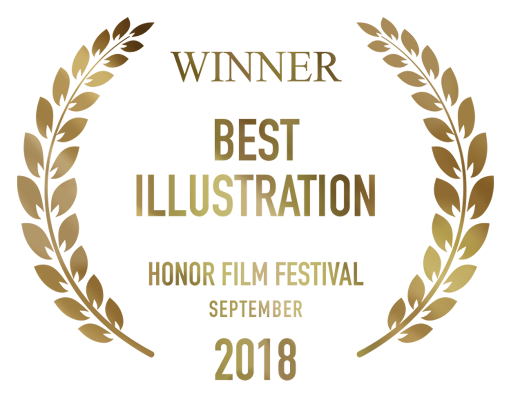 FragmentsBest Illustration Honor Film Festival September 2018 Design & Illustration by Cesare Asaro