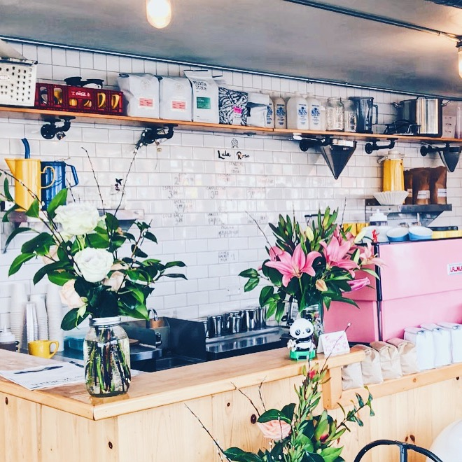 Lula Rose:  In addition to serving incredible coffee, Lula Rose also has fresh cut flowers for sell.
