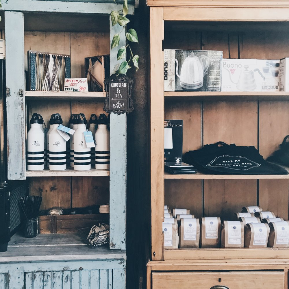 Black Eye Coffee:  The decor alone is enough to make you want to stop by!