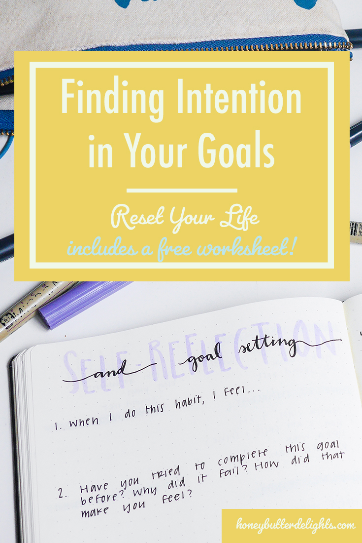 Finding Intention in Your Goals