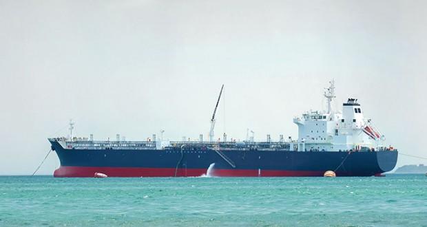 Vessel discharging ballast water