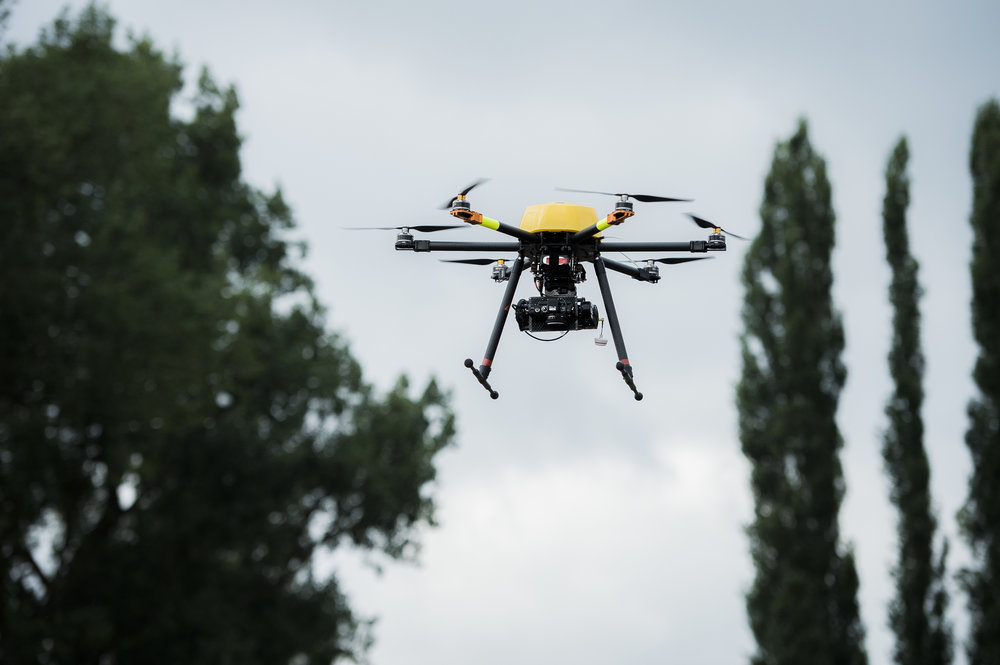 the Trimble zx5, a rotary wing drone, in action