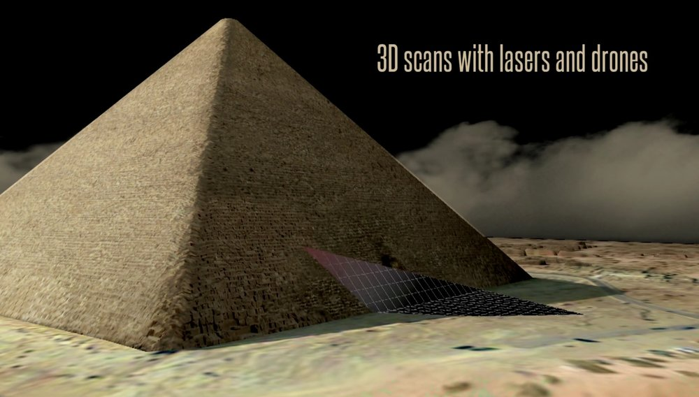 3D Laser Scanning the exterior & interior of the pyramids