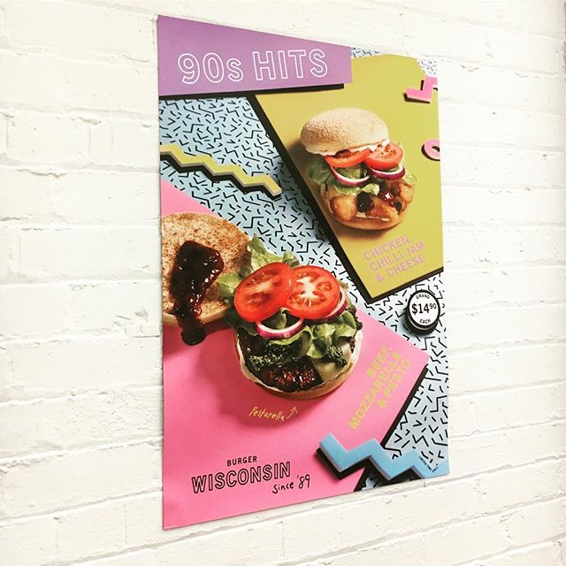 Art directed this poster for BW working at Luc Identity. The models were very well behaved. #burgermodels #artdirection #90s