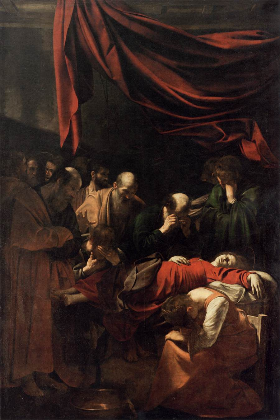 """""""Mort de la Vierge"""" 1604-1606 , Le Caravage. Musée du Louvre."""
