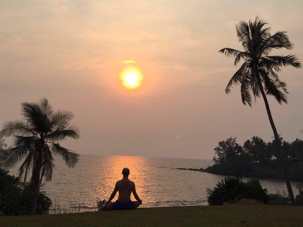 Séance de méditation, Golfe de Thailande.