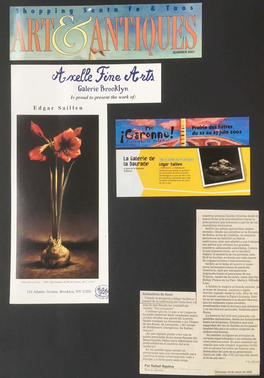 ART ET ANTIQUES 2001