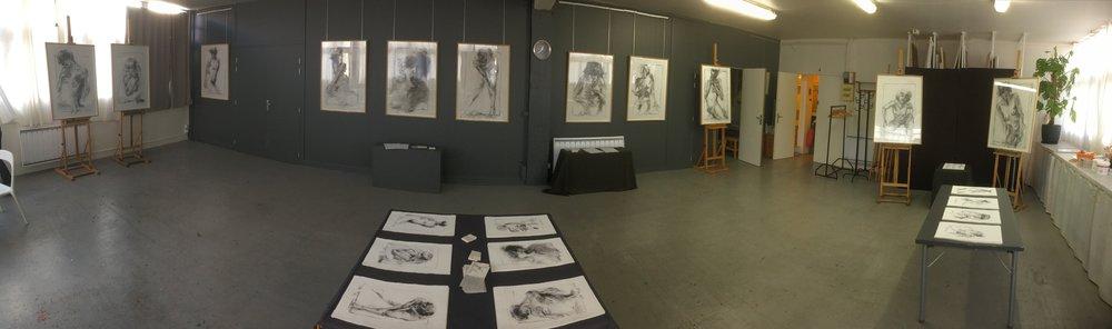 Vue de l'exposition de Marie Demeslay 2016