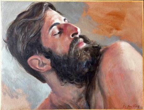 """""""Benjamin D"""" huile sur toile 35x50cm - 2014"""