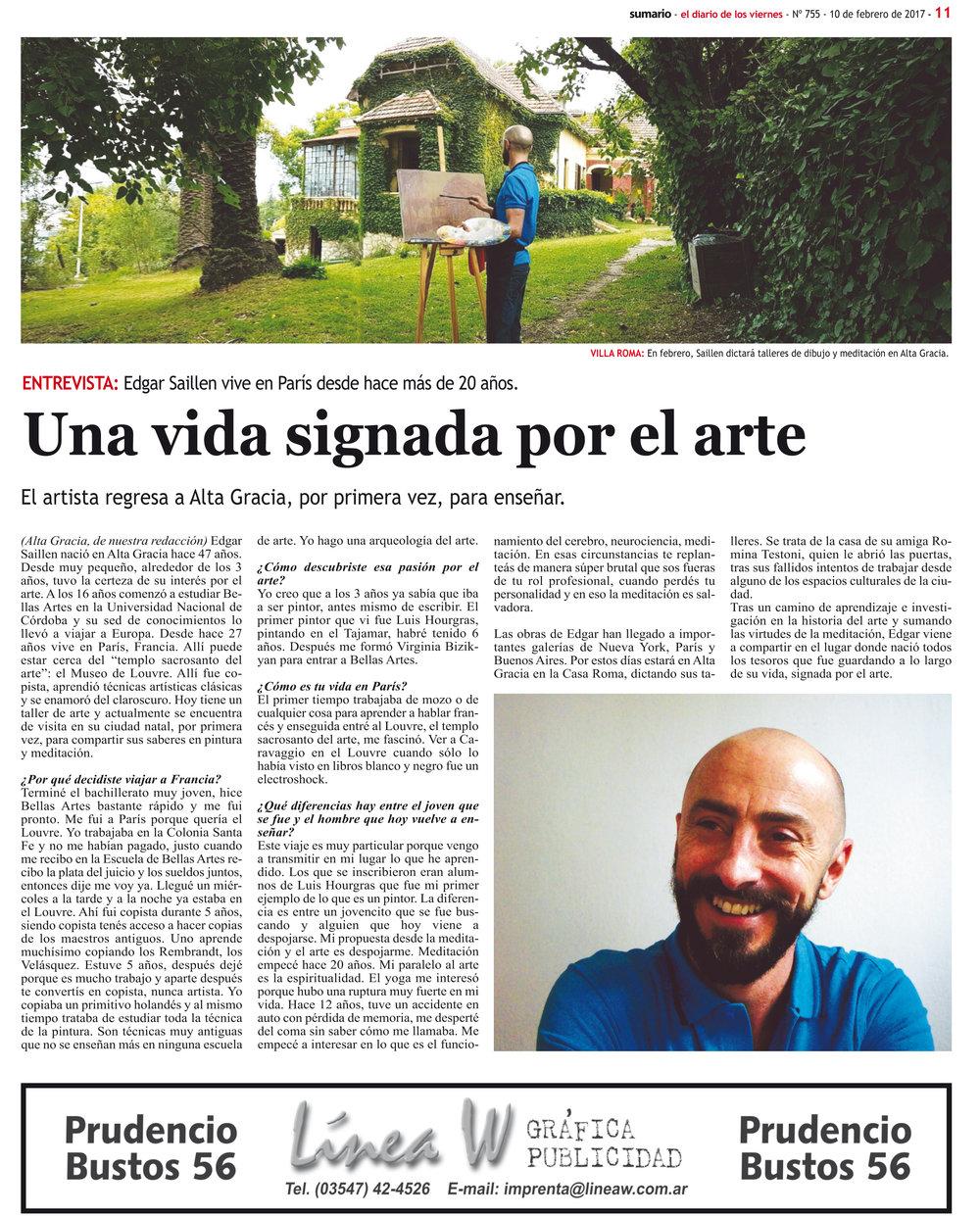 Diario Sumario, Février 2017
