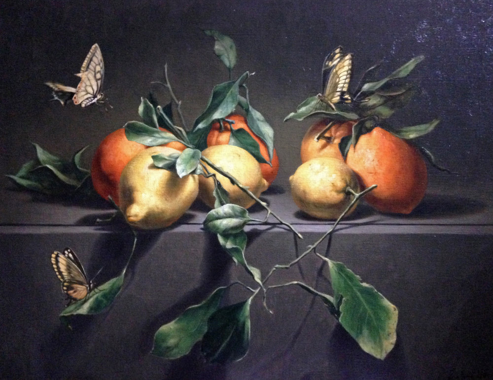 """Nature morte aux oranges"" 73x60cm"