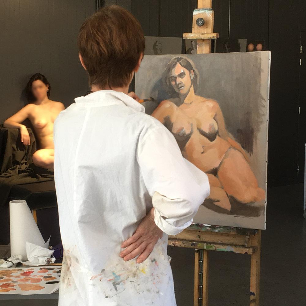 Stage de dessin et peinture avec modèle vivant à Paris-Montreuil