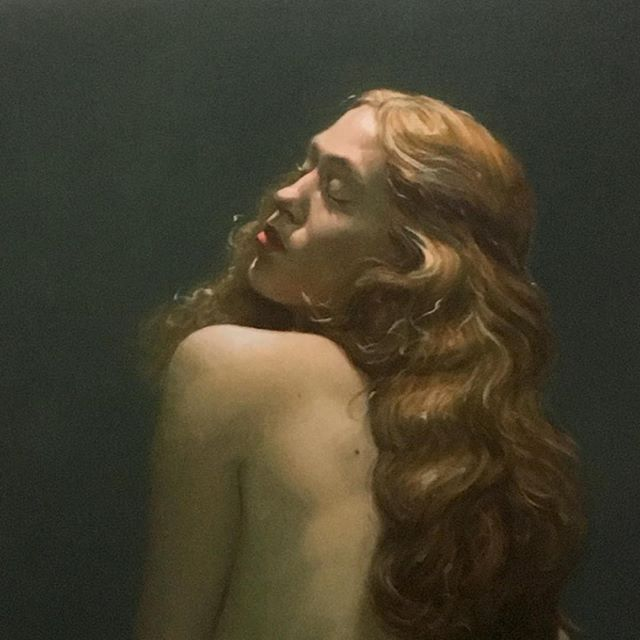 Oil Painting Portrait of my Venus Juliette @juliette.rr #painting #oilpainting #figurativepainting #figurativeart #greenforoil #sennelier #drawing #oilpaintingoncanvas #portrait #venus
