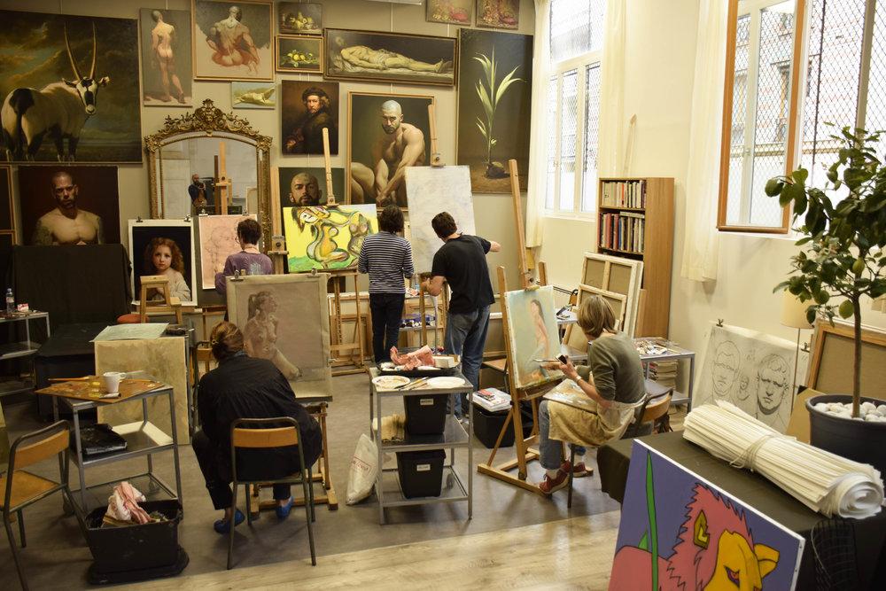 Séance de dessin et peinture avec modèle vivant Paris Montreuil