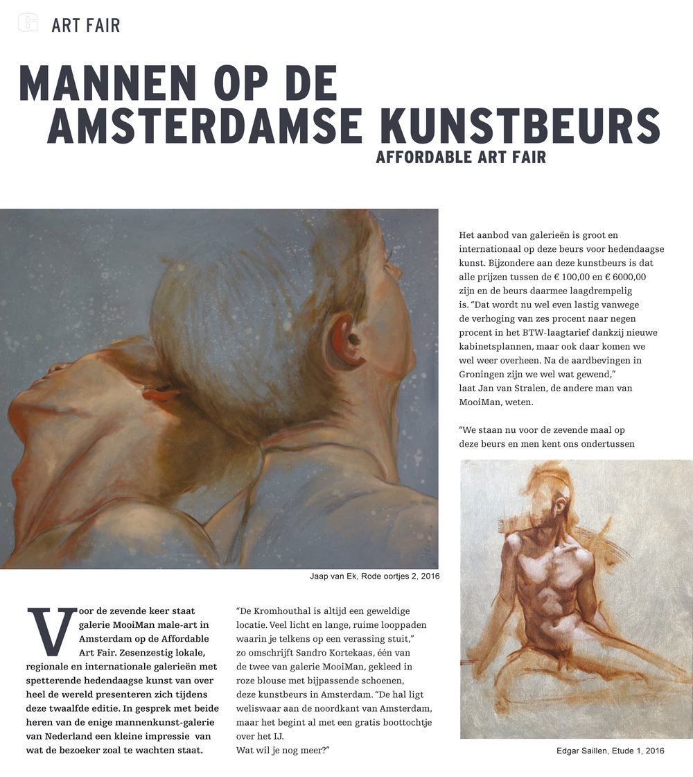 Art Fair Magazine, Amsterdam 2017.