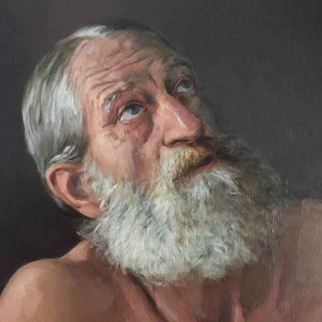 Oil Painting Portrait #portrait #oilpainting #fugurativeart #oldmasters #oldmasterpainting #malemodel #frenchartist #contemporaryartist #contemporarypainting #figurativeartist #realisticdrawing #realisticportrait #realisticpainting