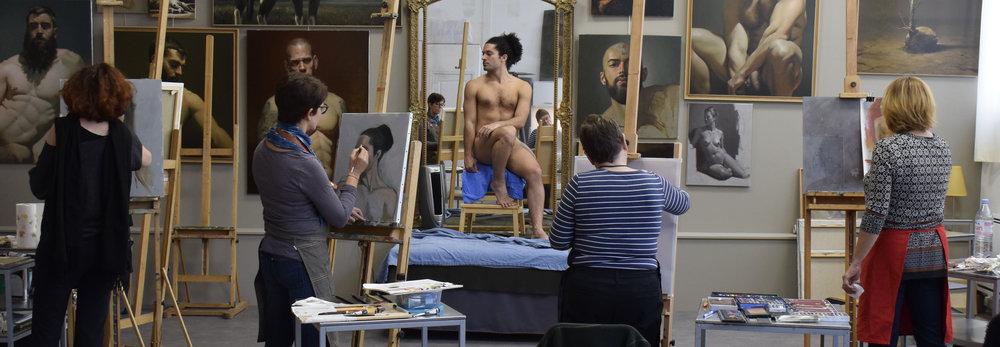 Cours avec modèle vivant à Paris