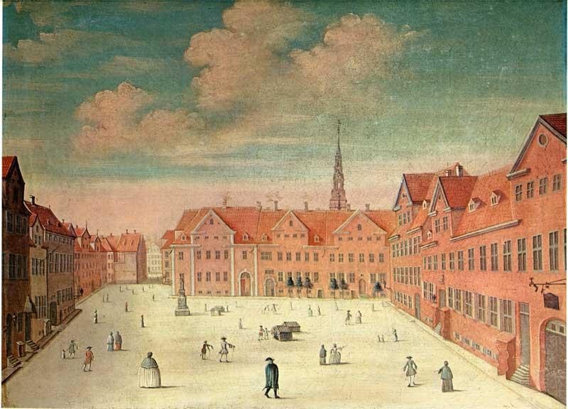 Ulfeldts Plads 1748 - Maleri af Johannes Rech