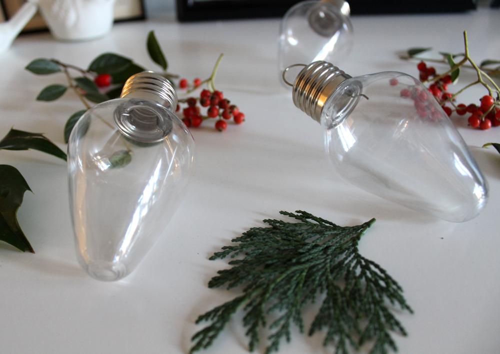 light bulb bauble christmas craft