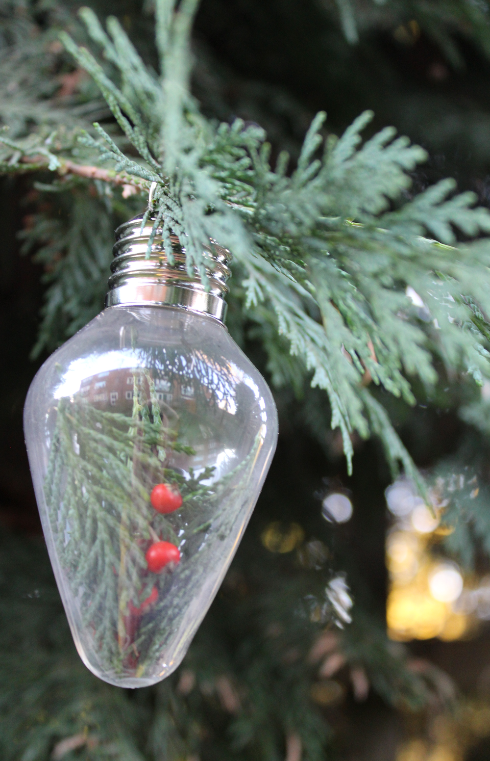 Light bulb christmas tree decorations