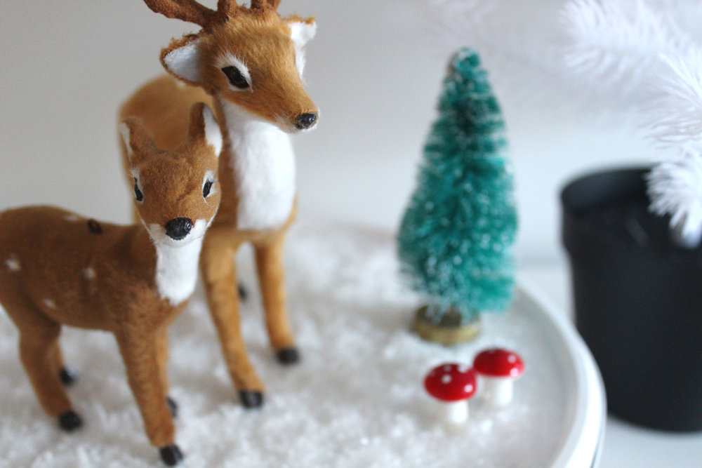 how to make a christmas scene box