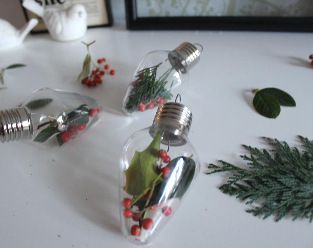 How to make Christmas light bulb ornaments