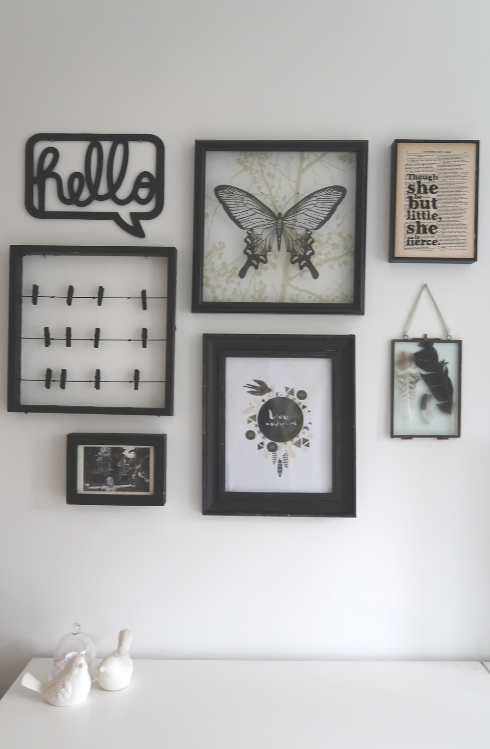 how to display photos on a wall