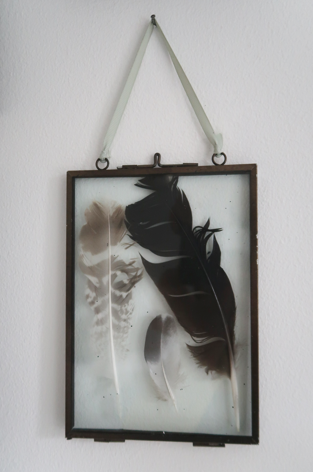 how to make a feather frame