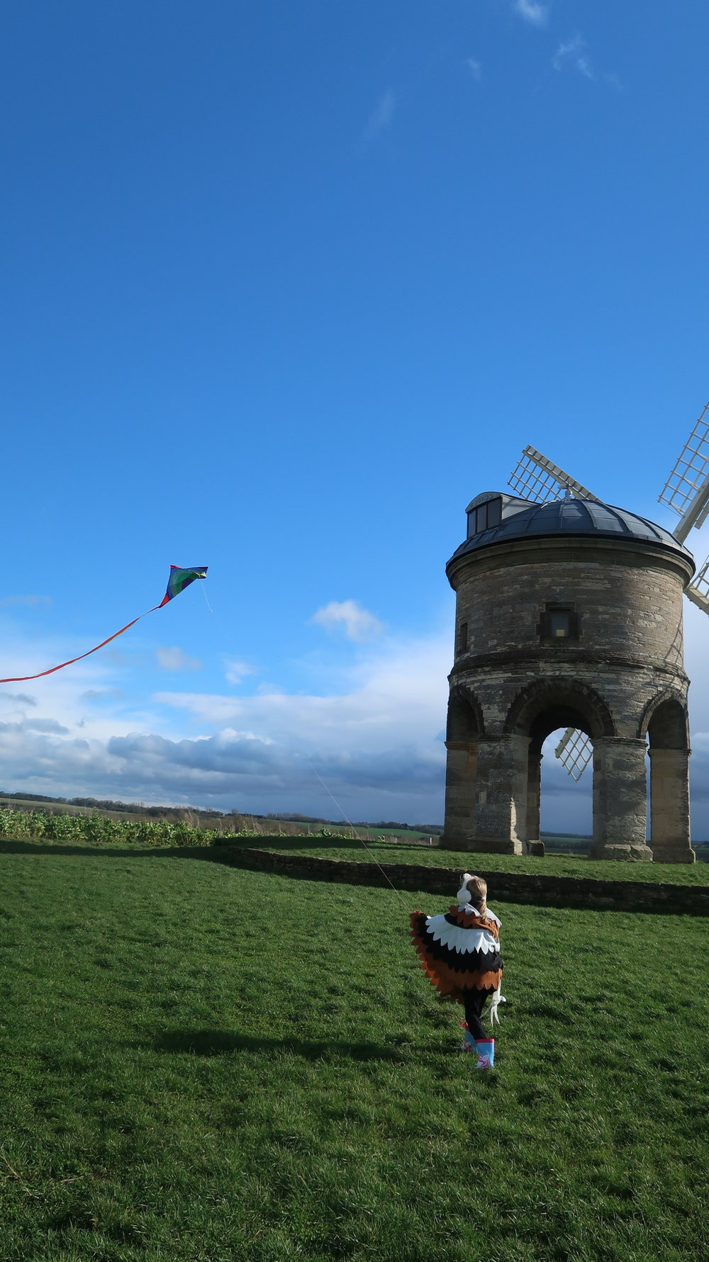 kite flying at Chesterton Windmill Warwickshire