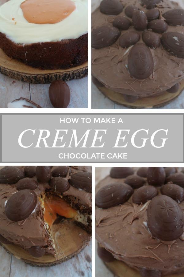 How to make a creme egg chocolate cake
