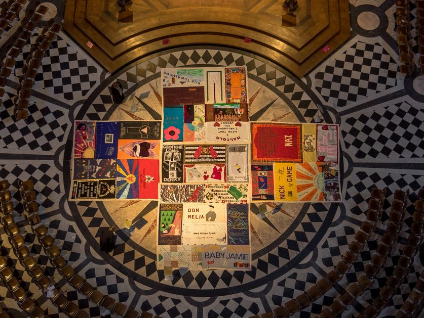 St Paul's display #AIDsquiltuk