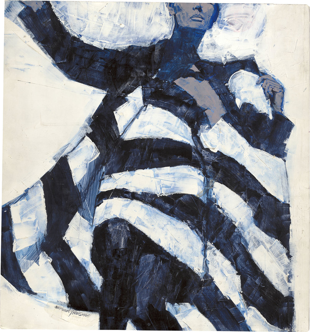 White and Black Dress by Michael Johnson