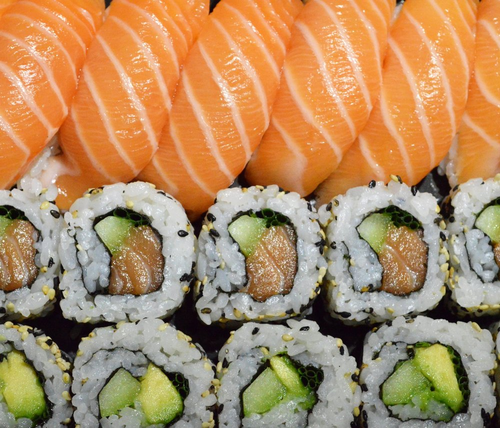 Freshly made sushi - image by Deborah Ajia
