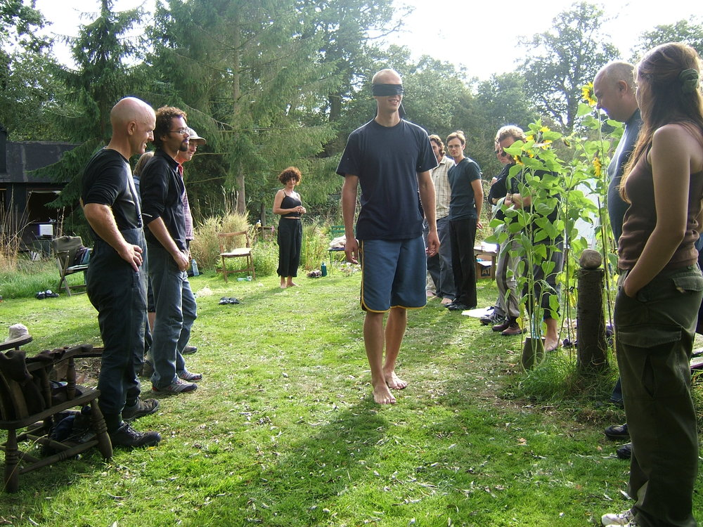 The first weekend of the permaculture design course. No idea what I was doing!