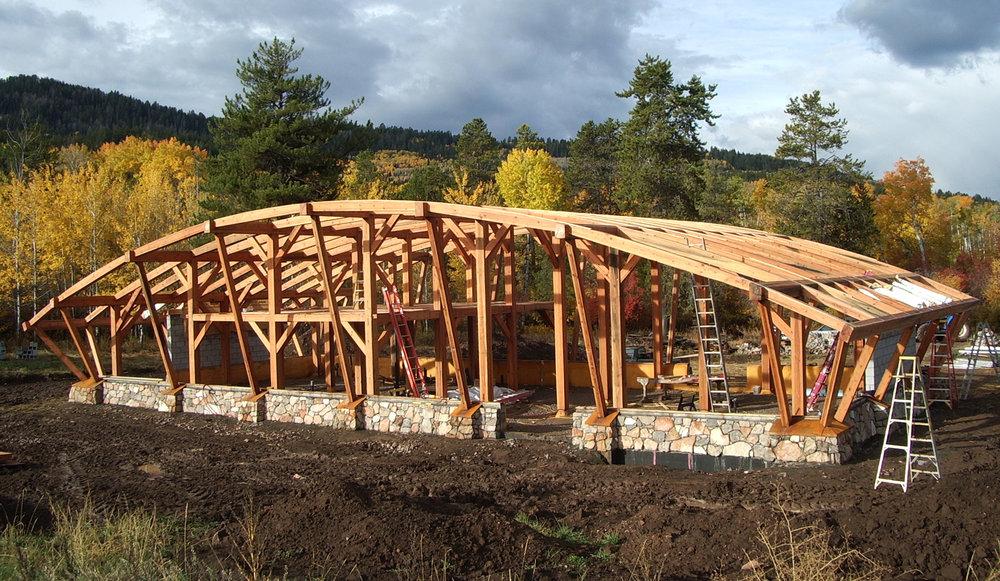 Snowdrift Farmhouse, a 40' X 80' strawbale home built off-grid in 2006.