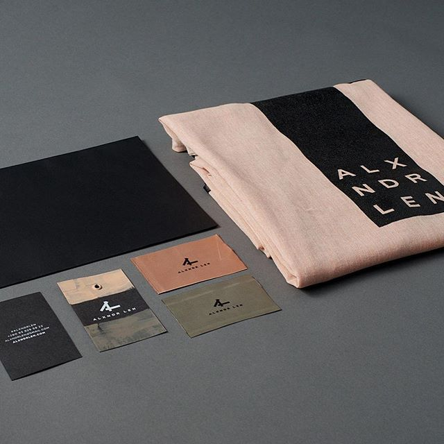 Alxndr Len by INTSIGN #logo #logotype #identity #branding #leather