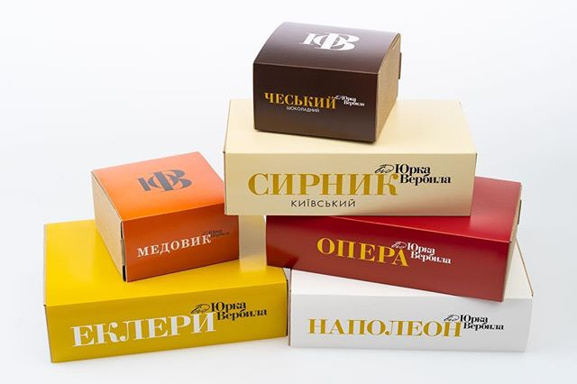ТМ вiд Юрка Вербила by INTSIGN, 2014 г. #logo #logotype #packaging #packagingdesign #tasty #desserts #dessert #dessrtporn