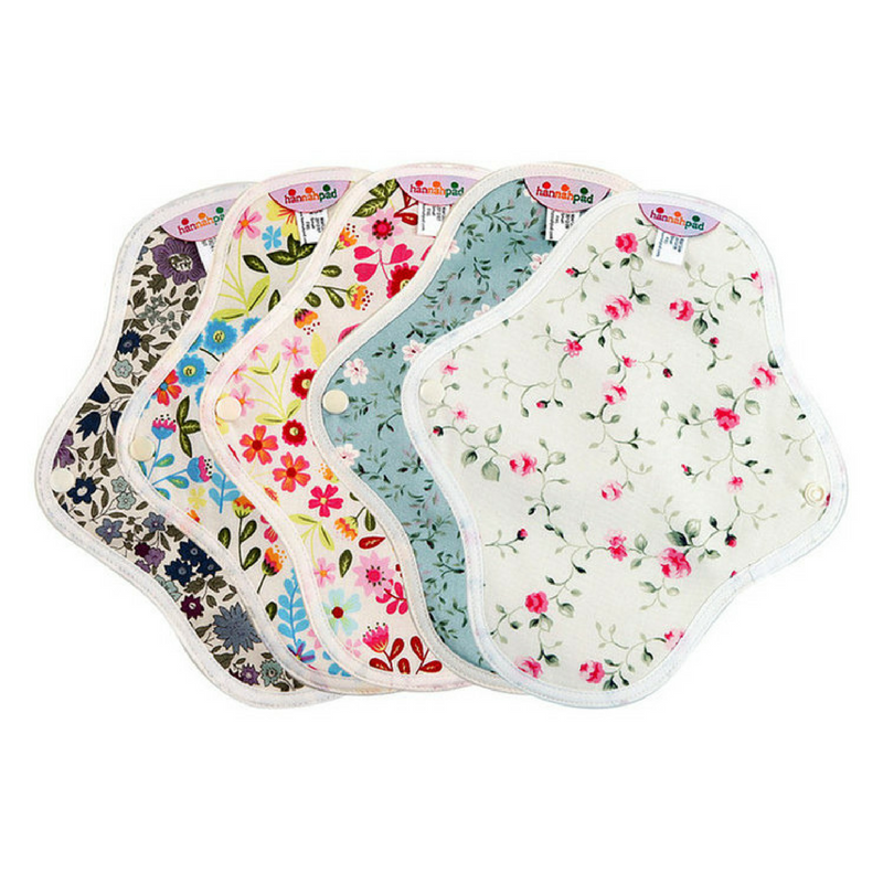 Cloth pads are great if you're like me and can't figure out how to stop your menstrual cup from leaking- or if your just prefer pads over tampons or cups. I have a 5 pack set of the pantyliner size because most of the blood is collected in my cup during the day, and a 3 pack of the large/overnight ones. These are really good quality pads, eco-friendly, not uncomfortable, and super cute which is always important for anything that you're going to hide in your pants and bleed on.